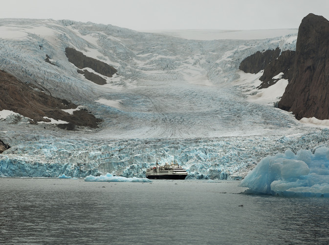 Glacier and ship w